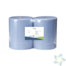 Maxirol, 2 laags blauw, verlijmd (37 cm x 380 m)