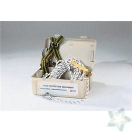 Miller Roofing-Kit alternative Version, samenstelling:harnas DuraFlex MA08; 15m levenslijn met lijnklem; kunststof koffer