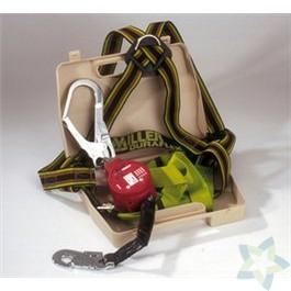 "Miller set ""MiniLite"" harnas Duraflex MA02; valstop MiniLite 3m, kunststof koffer"