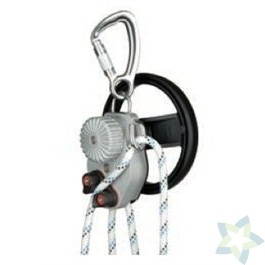 SafEscape ELITE Hoist afdaal- en reddingstoestel (met handgreep, hendel en adapter voor leidingen), kernmanteltouw 10,5 mm