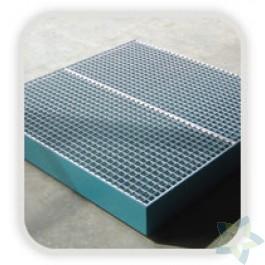 Lekbak t.b.v. opvang van vloeistoffen, schakelbaar  (1200x1200x100 mm)