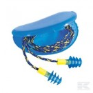 Howard Leight Oorplug Fusion blauw + koord SNR 28dB