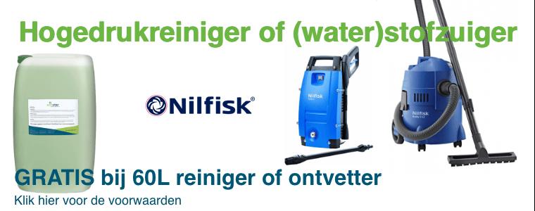 Gratis hogedrukreiniger of (water)stofzuiger Nilfisk bij 60L*